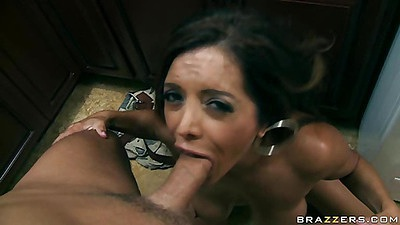 Mom goes down and sucks dick with cum on it