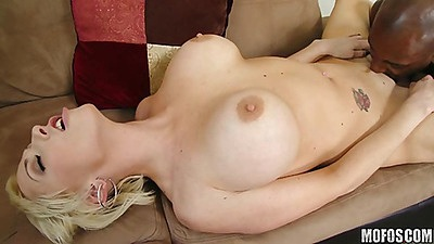 Hardcore fucking big tits milf with black shaft