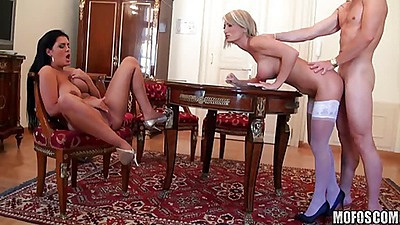Great anal fuckihng milf from behind on table
