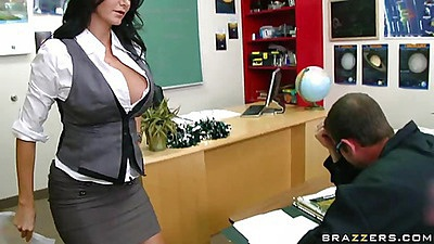 Big tits at school MS adams showing her tits