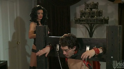 Milf brunette Alektra Blue in bondage fetish sex domination