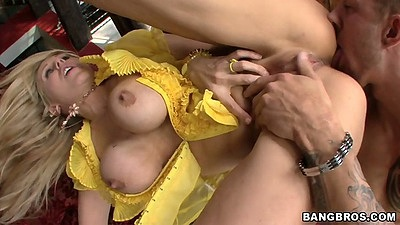 Big tits Julia Ann gets an ass licking rimjob with pov blowjob