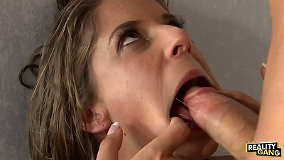 Presley Hart spreading her mouth for deepthroat revenge punishment sex
