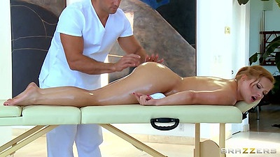 Oil ass massage with Katja Kassin enjoying a rub bodwn