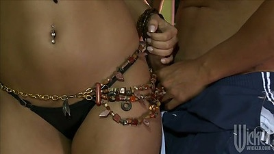 Jordanna Fox showing cute naval piercing with blowjob and pusy licked