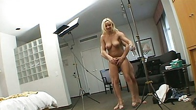 Fucking a blonde standing up and pov handjov