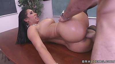 Big tits Professor love fucked from behind on her desk