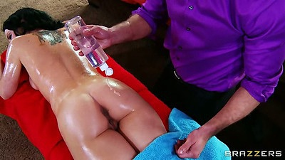 Katie St. Ives oil massage and nice tits rubbing