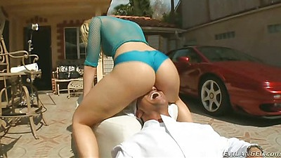 Face fucking outdoors and blowjob with Alexis Texas
