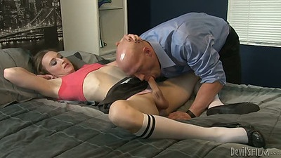 Transsexual blowjob with Christian XXX and Jacqueline Woods