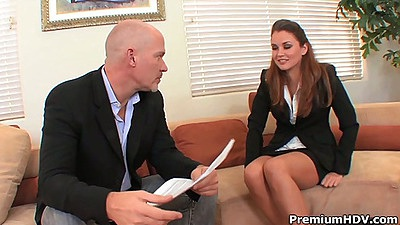 Office interview with bitch Allie Haze