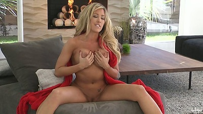Big tits girl with opens legs going down stairs Capri Cavalli