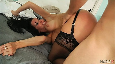 Horny milf gets rough sex plowed from rear view Veronica Avluv